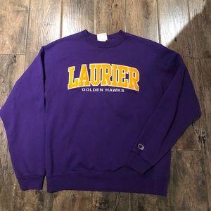 Champion Laurier Goldenhawks Crewneck Size M